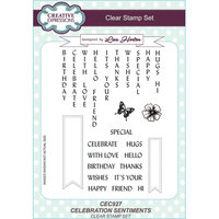 Creative Expressions - Clear Acrylic Stamps - A5 - Celebration Sentiments