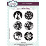 Creative Expressions - Christmas - Clear Acrylic Stamps - Winter Silhouette Circles