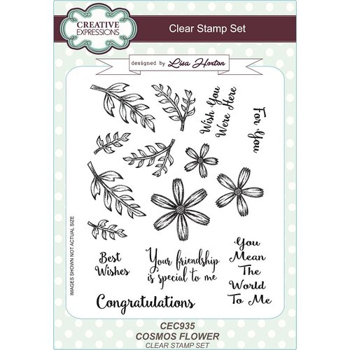 Creative Expressions - Clear Acrylic Stamps - Cosmos Flower