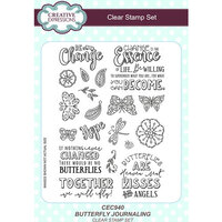 Creative Expressions - Clear Acrylic Stamps - Butterfly Journaling