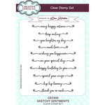 Creative Expressions - Clear Acrylic Stamps - Sketchy Sentiments