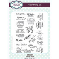 Creative Expressions - Clear Acrylic Stamps - A5 - Wine Not
