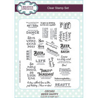 Creative Expressions - Clear Acrylic Stamps - A5 - Beer Happy