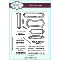 Creative Expressions - Safari Collection - Clear Photopolymer Stamps - Wild About You