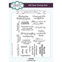 Creative Expressions - Canvas Collection - Clear Photopolymer Stamps - A Perfect Day