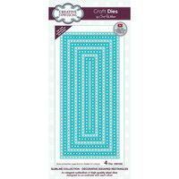 Creative Expressions - Craft Dies - Slimline - Decorative Squared Rectangles