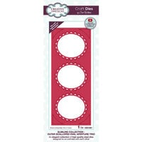Creative Expressions - Craft Dies - Slimline - Outer Scalloped Oval Aperture Trio
