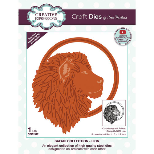 Creative Expressions - Safari Collection - Craft Dies - Lion