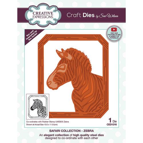 Creative Expressions - Safari Collection - Craft Dies - Zebra