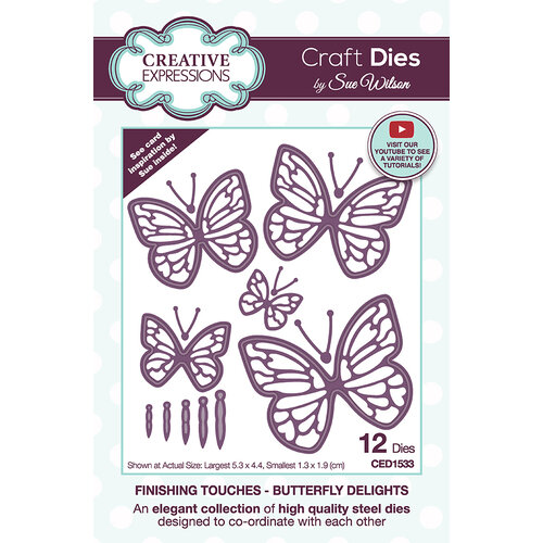 Creative Expressions - Dies - Finishing Touches - Butterfly Delights