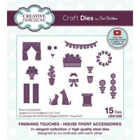 Creative Expressions - Craft Dies - Finishing Touches - House Front Accessories