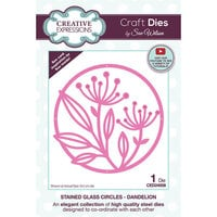 Creative Expressions - Craft Dies - Stained Glass - Dandelion Circles