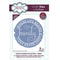 Creative Expressions - Circle Sayings Collection - Craft Die - Family