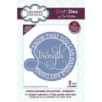 Creative Expressions - Circle Sayings Collection - Craft Die - Strength