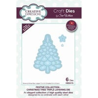 Creative Expressions - Festive Collection - Triple Layering Craft Die - Christmas Tree