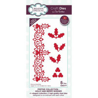 Creative Expressions - Christmas - Festive Collection - Border Craft Die - Holly and Berry