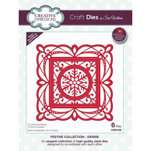 Creative Expressions - Christmas - Festive Collection - Craft Die - Denise