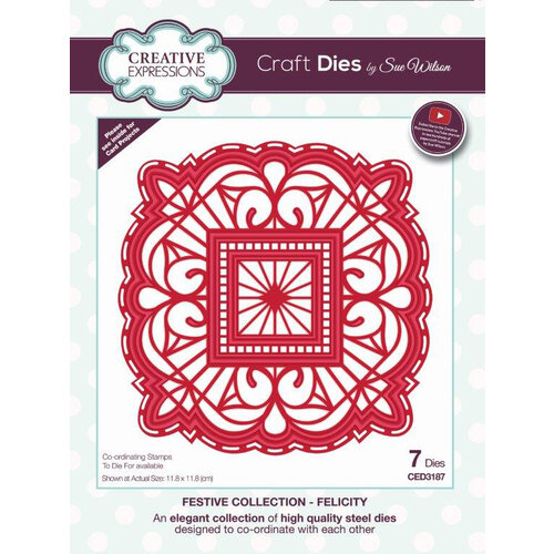 Creative Expressions - Christmas - Festive Collection - Craft Die - Felicity