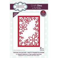Creative Expressions - Christmas - Festive Collection - Craft Die - Pretty Poinsettia Frame