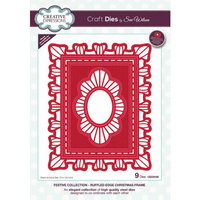 Creative Expressions - Christmas - Festive Collection - Craft Die - Ruffled Edge Christmas Frame
