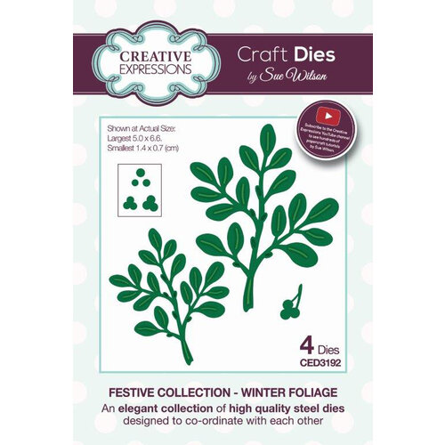 Creative Expressions - Christmas - Festive Collection - Craft Die - Winter Foliage