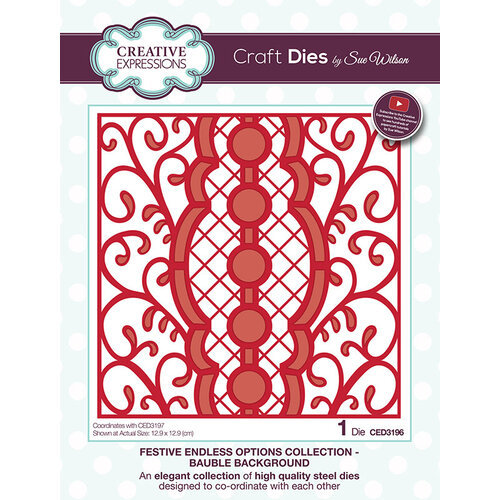Creative Expressions - Festive Endless Options Collection - Christmas - Craft Die - Bauble Background