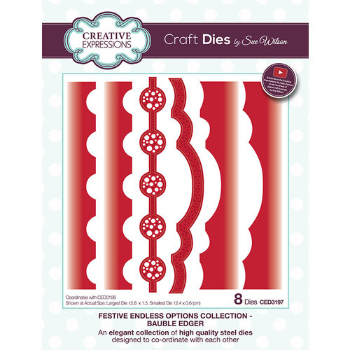 Creative Expressions - Christmas - Festive Endless Options Collection - Craft Die - Bauble Edger