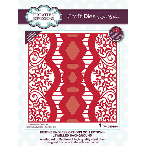 Creative Expressions - Christmas - Festive Endless Options Collection - Craft Die - Jeweled Background