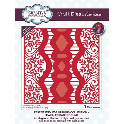 Creative Expressions - Festive Endless Options Collection - Christmas - Craft Die - Jeweled Background