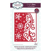 Creative Expressions - Christmas - Festive Collection - Craft Die - Snowflakes and Swirls