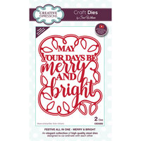 Creative Expressions - Christmas - Festive Collection - Craft Die - Merry and Bright