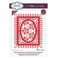 Creative Expressions - Christmas - Festive Collection - Craft Die - Deco Snowflake Background