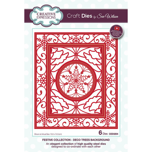 Creative Expressions - Christmas - Festive Collection - Craft Die - Deco Trees Background