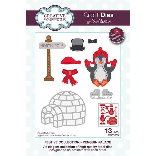 Creative Expressions - Christmas - Festive Collection - Craft Die - Penguin Palace