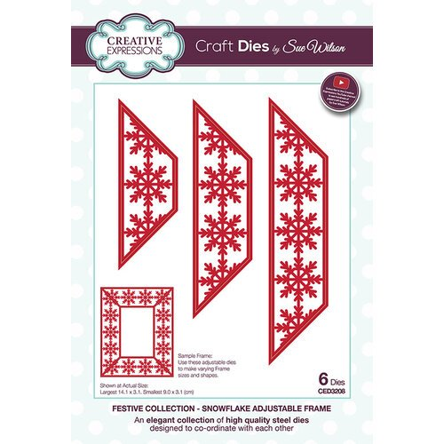 Creative Expressions - Christmas - Festive Collection - Craft Die - Snowflake Adjustable Frame