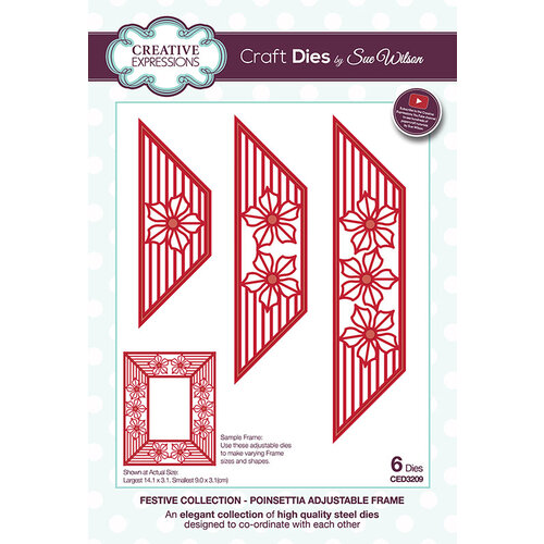 Creative Expressions - Christmas - Festive Collection - Craft Die - Poinsettia Adjustable Frame