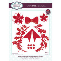 Creative Expressions - Christmas - Festive Collection - Craft Die - Flower Sprig and Bow