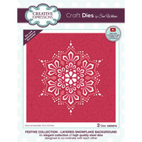 Creative Expressions - Christmas - Craft Die - Layered Snowflake Background