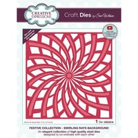 Creative Expressions - Christmas - Craft Die - Swirling Rays Background