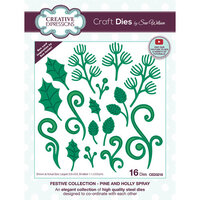 Creative Expressions - Christmas - Craft Die - Pine And Holly Spray