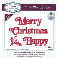 Creative Expressions - Christmas - Craft Dies - Deco Sentiments