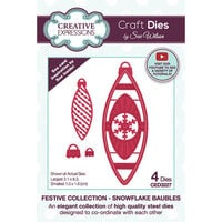 Creative Expressions - Christmas - Craft Dies - Snowflake Baubles