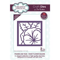 Creative Expressions - Frames and Tags Collection - Dies - Pansy Flower Square