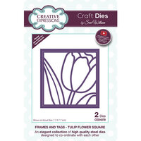 Creative Expressions - Frames and Tags Collection - Dies - Tulip Flower Square
