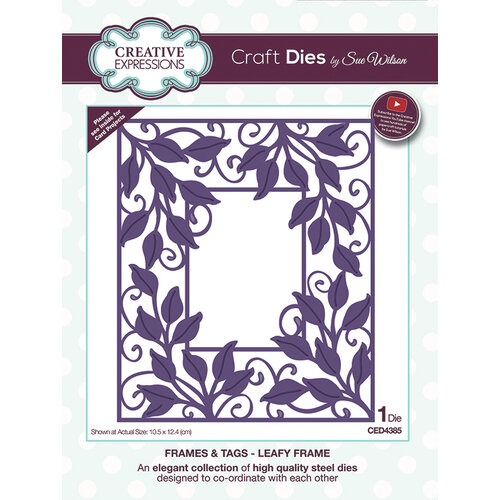 Creative Expressions - Frames and Tags Collection - Dies - Leafy Frame