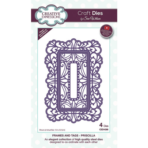 Creative Expressions - Frames and Tags Collection - Dies - Priscilla