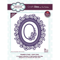 Creative Expressions - Frames and Tags Collection - Craft Die - Leafy Oval