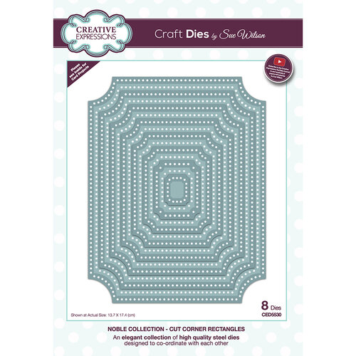Creative Expressions - Noble Collection - Craft Die - Cut Corner Rectangles