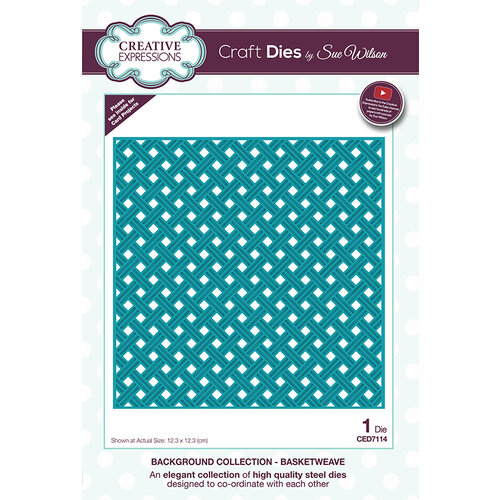 Creative Expressions - Background Collection - Dies - Basketweave