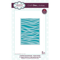 Creative Expressions - Background Collection - Dies - Layered Ocean Waves